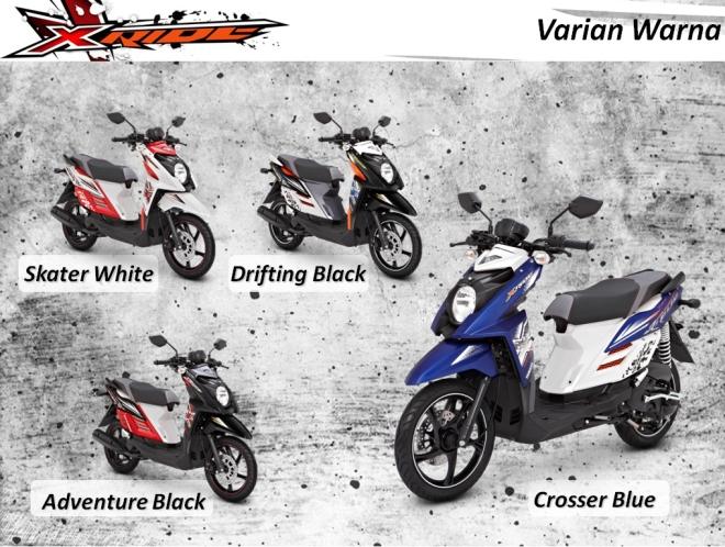 Pilihan Warna Motor Yamaha X-Ride